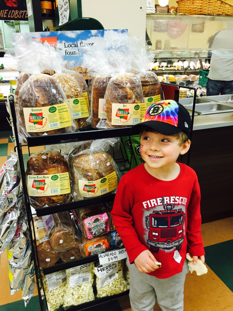 Borealis, made in Maine, is among many breads Theo loves.