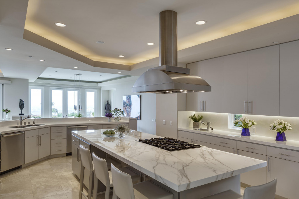 In the kitchen, marble should be used with caution on high-traffic surfaces like countertops.