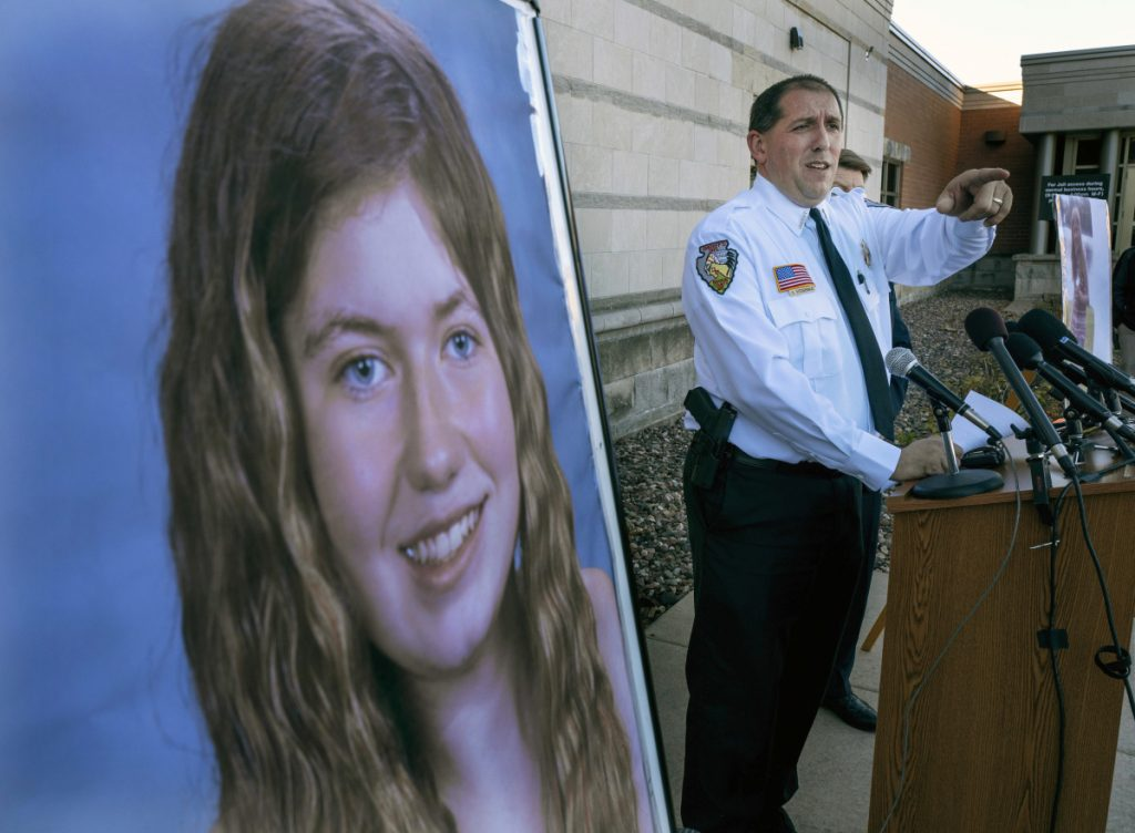 Barron County Sheriff Chris Fitzgerald speaks during a news conference about 13-year-old Jayme Closs who had been missing since October. Closs was found alive last week.